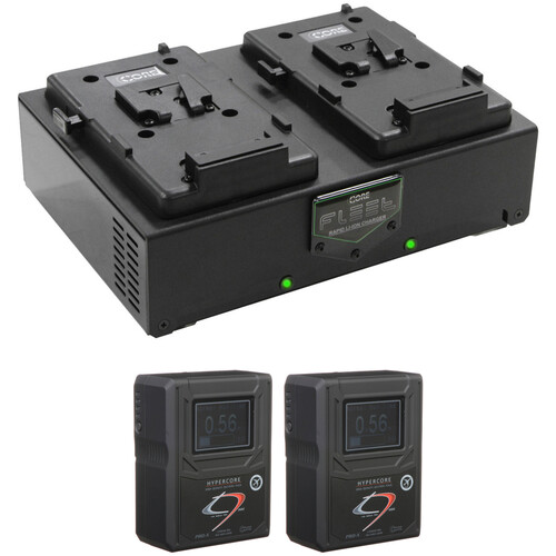 Core SWX HC9 Mini 2-Battery Kit with Fleet D Charger (RED V-Mount)