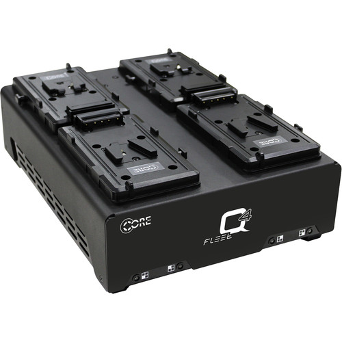 Core SWX HyperCore HC9 Mini 4-Battery Kit with Fleet Q Charger (RED V-Mount)