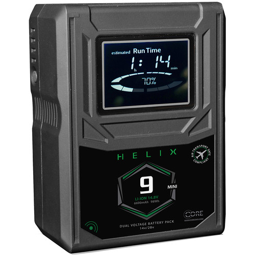Core SWX Helix 9 Mini 98Wh Dual-Voltage Battery (V-Mount)