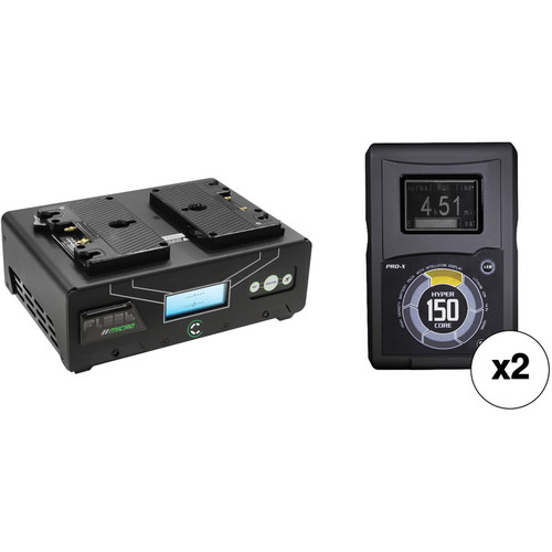 Core SWX HyperCore 150 2-Battery Kit with Fleet Micro Charger (Gold Mount)