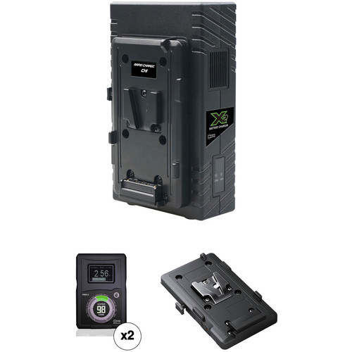 Core SWX HyperCore 98 2-Battery Kit for BMD URSA Mini Cameras with X2S Vertical Charger (V-Mount)