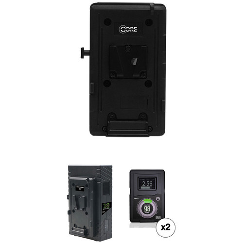 Core SWX HyperCore 98 Two-Battery Kit for Sony FS7 with X2S Vertical Charger (V-Mount)