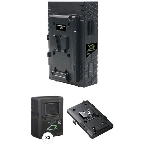 Core SWX HyperCore HC9 2-Battery Kit for BMD URSA Mini Cameras with X2S Vertical Charger (V-Mount)