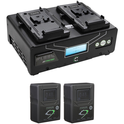 Core SWX HyperCore HC9 Mini 2-Battery Kit with Fleet Micro Charger (V-Mount)