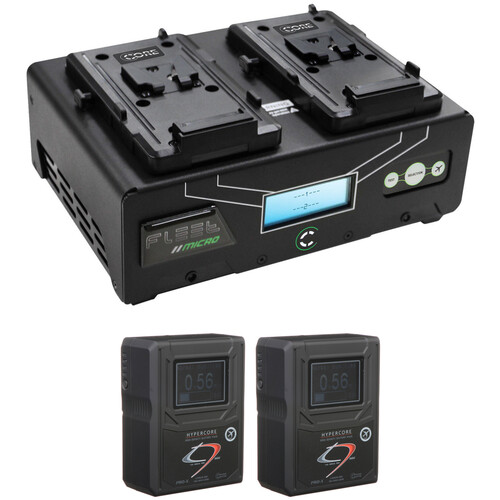 Core SWX HyperCore HC9 Mini 2-Battery Kit with Fleet Micro Charger (RED V-Mount)