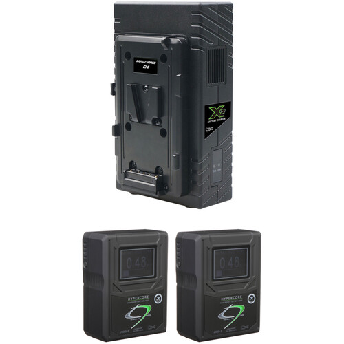 Core SWX HyperCore HC9 Mini 2-Battery Kit with X2S Vertical Charger (V-Mount)