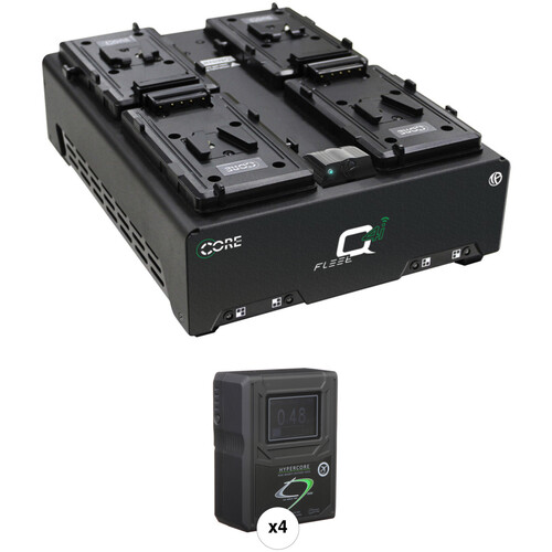 Core SWX HyperCore HC9 Mini 4-Battery Kit with 4-Position Charger (V-Mount)