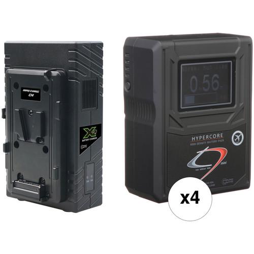 Core SWX HyperCore HC9 Mini 4-Battery Kit (V-Mount, RED DSMC/DSMC2)