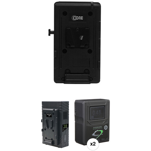 Core SWX HyperCore HC9 Mini Two-Battery Kit for Sony FS7 with X2S Vertical Charger (V-Mount)