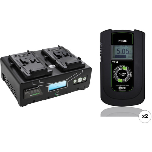 Core SWX HyperCore Prime 2-Battery Kit with Fleet Micro Charger (V-Mount)