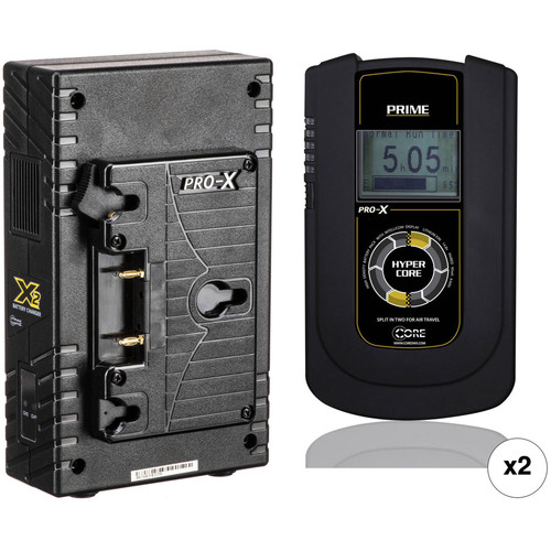 Core SWX HyperCore Prime 2-Battery Kit with X2A Vertical Charger (Gold Mount)