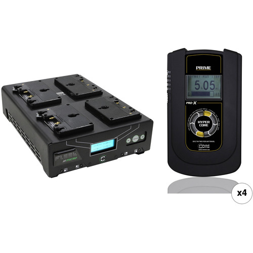 Core SWX HyperCore Prime 4-Battery Kit with Fleet Micro Charger (Gold Mount)