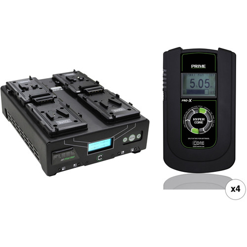 Core SWX HyperCore Prime 4-Battery Kit with Fleet Micro Charger (V-Mount)