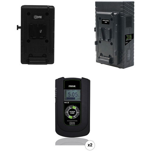 Core SWX HyperCore Prime Two-Battery Kit for Sony FS7 with X2S Vertical Charger (V-Mount)