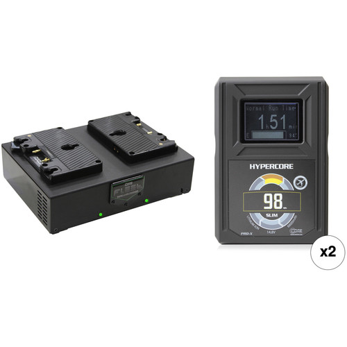 Core SWX HyperCore Slim 98 2-Battery Kit with Fleet D Charger (Gold Mount)