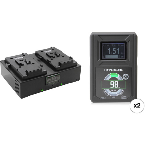 Core SWX HyperCore Slim 98 2-Battery Kit with Fleet D Charger (V-Mount)