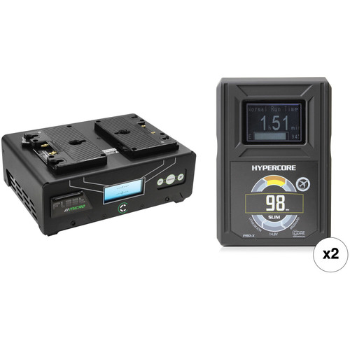 Core SWX HyperCore Slim 98 2-Battery Kit with Fleet DM2A Charger (Gold Mount)