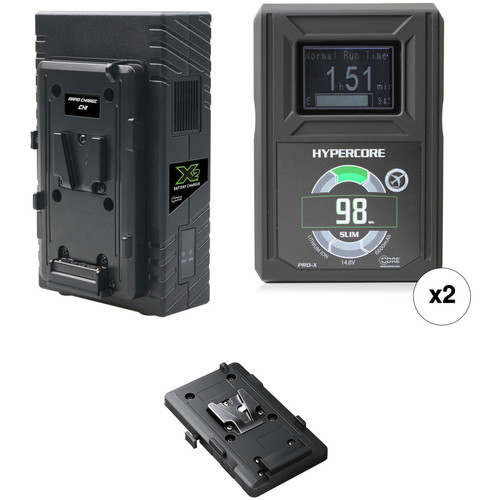 Core SWX HyperCore Slim 98 2-Battery Kit for BMD URSA Mini Cameras with X2S Vertical Charger (V-Mount)