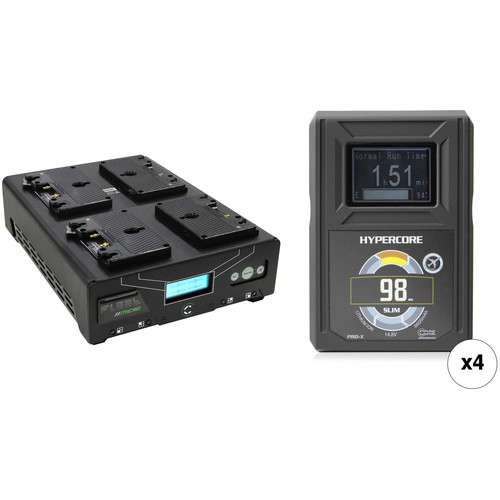 Core SWX HyperCore Slim 98 4-Battery Kit with Fleet Micro Charger (Gold Mount)
