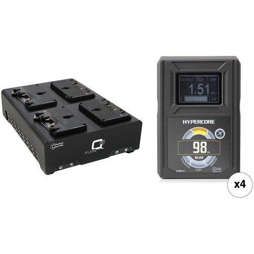 Core SWX HyperCore Slim 98 4-Battery Kit with Fleet Q Charger (Gold Mount)