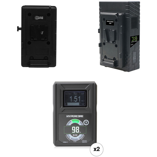 Core SWX HyperCore Slim 98 Two-Battery Kit for Sony FS7 with X2S Vertical Charger (V-Mount)