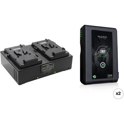 Core SWX Nano 2-Battery Kit with Fleet D Charger (V-Mount)