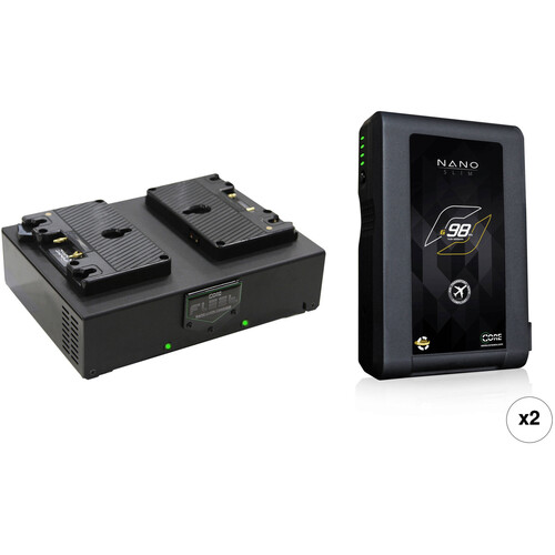 Core SWX Nano 2-Battery Kit with Fleet D Charger (Gold Mount)