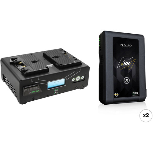 Core SWX Nano 2-Battery Kit with Fleet Micro Dual Charger (Gold Mount)