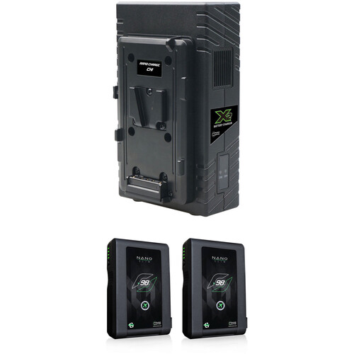 Core SWX Nano 2-Battery Kit with X2S Vertical Charger (V-Mount)