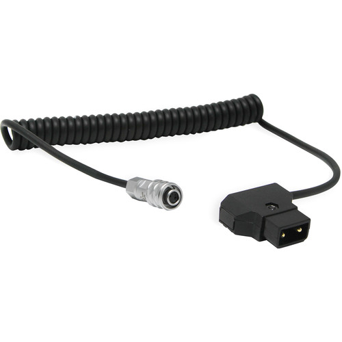 "Core SWX Coiled D-Tap to 2-Pin Cable for Blackmagic Pocket 4K & 6K (18 to 48"")"