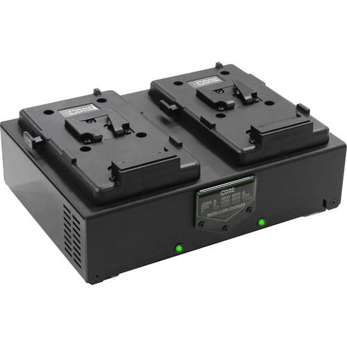 Core SWX Two HyperCore 98 Batteries & Fleet Dual Charger Kit (V-Mount)