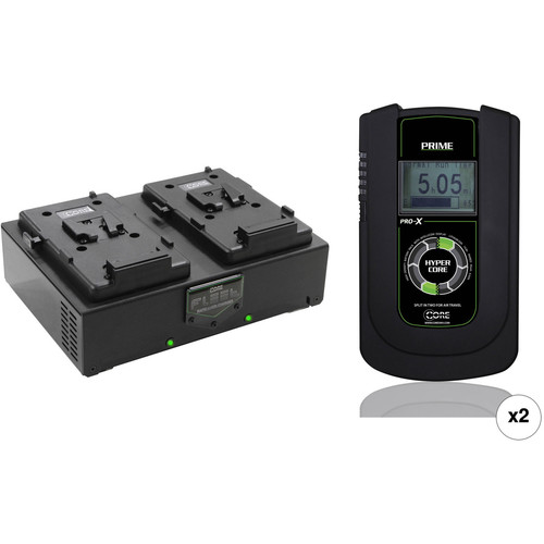 Core SWX Two HyperCore Prime 190Wh Batteries & Fleet Dual Charger Kit (V-Mount)