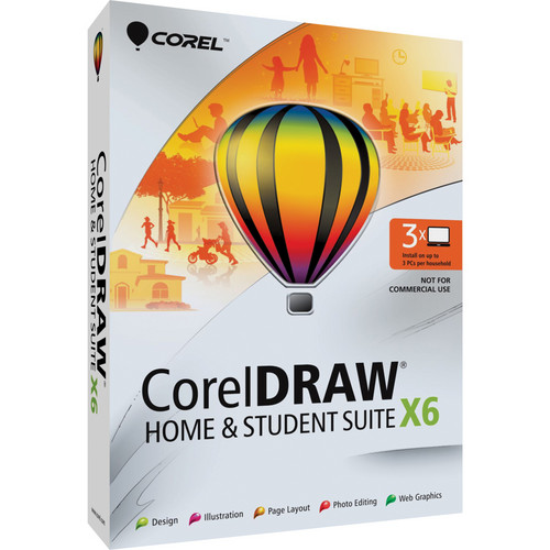 Corel CorelDRAW Graphics Suite X6 Software Upgrade DVD (Windows Only)