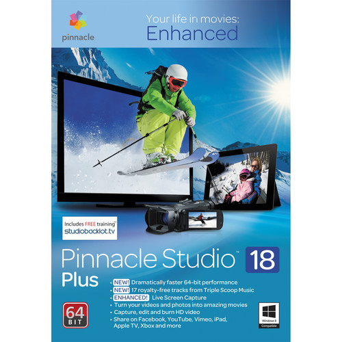Pinnacle Studio 18 Plus Video Editing Software for Windows (Download)