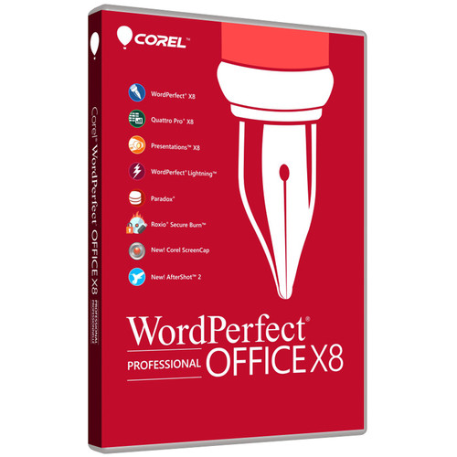 Corel WordPerfect Office X8 Professional Edition (Download)