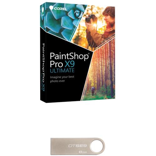 Corel PaintShop Pro X9 Ultimate with USB Flash Drive Kit (DVD)