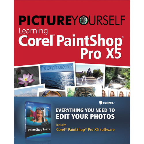 Corel PaintShop Pro X5 Photo Editing Software and Tutorial Book Bundle