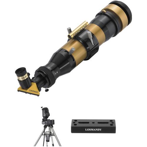 Coronado SolarMax II 60mm f/6.6 H-a 5mm Double-Stack Solar GoTo Telescope Kit