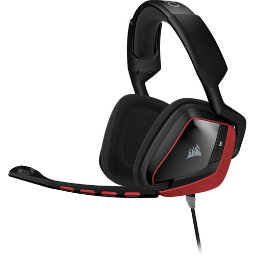 Corsair VOID Surround Hybrid Gaming Headset with Dolby 7.1 USB Adapter (Black / Red)
