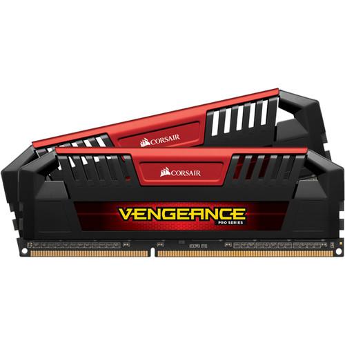 Corsair 16GB Vengeance Pro Series DDR3L 2133 MHz UDIMM Memory Kit (2 x 8GB, Red)
