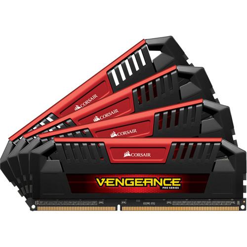 Corsair 32GB Vengeance Pro Series DDR3L 2133 MHz UDIMM Memory Kit (4 x 8GB, Red)