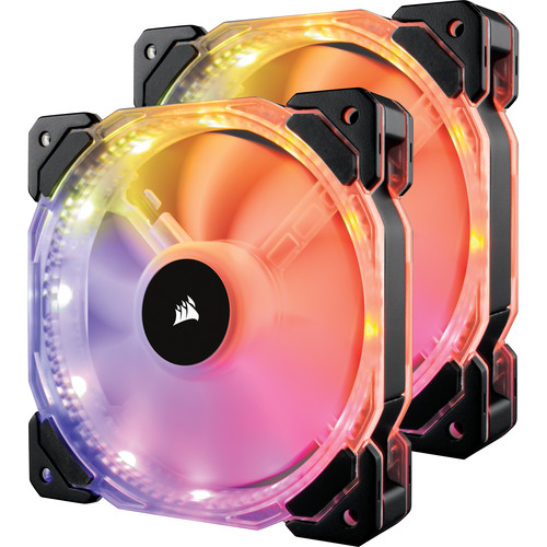 Corsair HD140 RGB LED 140mm PWM PC Case Fan (Twin Pack with Controller)