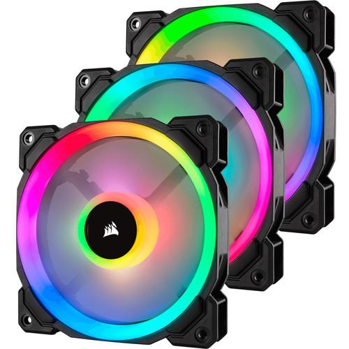 Corsair LL RGB 120mm Dual Light Loop RGB LED PWM Fan (3-Pack)