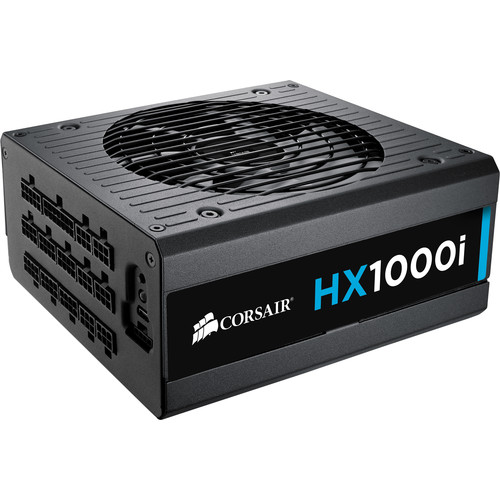 Corsair HXi Series HX1000i 1000W 80 Plus Platinum Certified PSU ATX Power Supply Unit (Black)