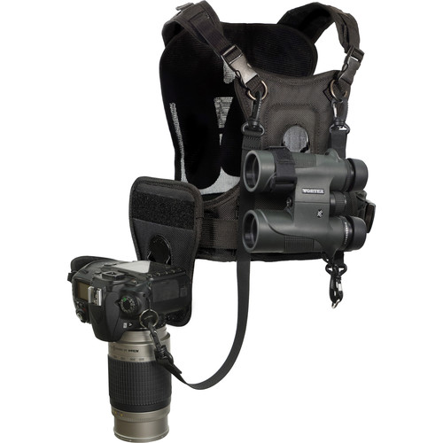 Cotton Carrier CCS Binocular and Camera Harness (Black)