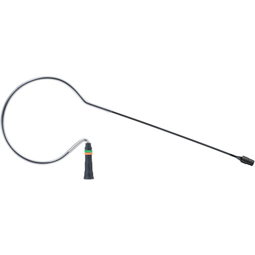 Countryman E6X Omnidirectional Earset Mic, Standard Gain with Detachable 2mm Cable and 3.5mm Locking Connector for Sky Wireless Transmitters (Black)