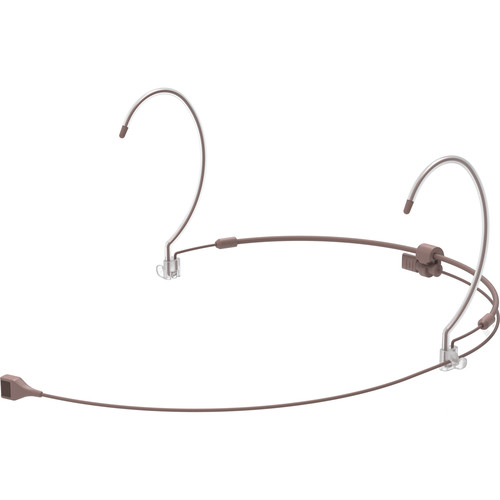 Countryman H7 Hypercardioid Headset Mic with Detachable Cable and 4-Pin Hirose Connector for Audio Technica Wireless Transmitters (Cocoa)