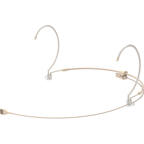 Countryman H7 Hypercardioid Headset Mic with Detachable Cable and cH-Style 4-Pin Connector for Audio Technica Wireless Transmitters (Light Beige)