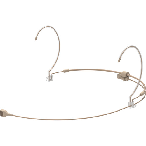 Countryman H7 Hypercardioid Headset Mic with Detachable Cable and LEMO 3-Pin Connector for Audio Limited, Sennheiser, and Shure Wireless Transmitters (Tan)