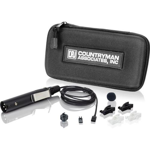 Countryman EMW Omnidirectional Lavalier Microphone Broadcast Kit (XLR Connector, Black)